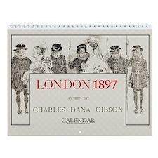 1897 Gibson's London Society 11x9 Wall Calendar