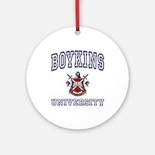 BOYKINS University Ornament (Round)