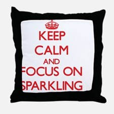 Cute Keep calm and sparkle on Throw Pillow