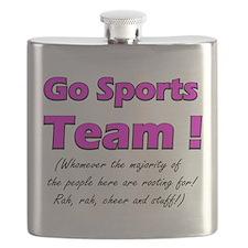 Funny Usa lacrosse Flask