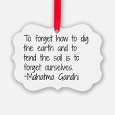 Cute Garden quotes Ornament