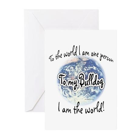 Bulldog World2 Greeting Cards (Pk of 10)
