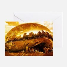 Chicago Gold Greeting Card