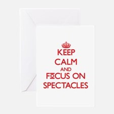Keep Calm and focus on Spectacles Greeting Cards