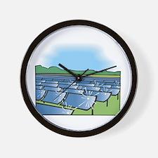 solar panel field.png. Wall Clock