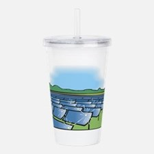 solar panel field.png. Acrylic Double-wall Tumbler