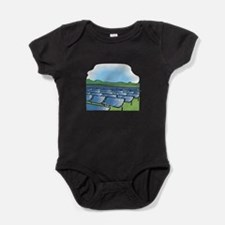 solar panel field.png. Baby Bodysuit