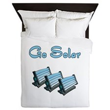 go solar with 3 solar panels Queen Duvet