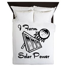 i farm solar power.png Queen Duvet