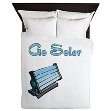 go solar with a solar panel.png Queen Duvet