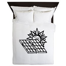 sun and solar panels.png Queen Duvet