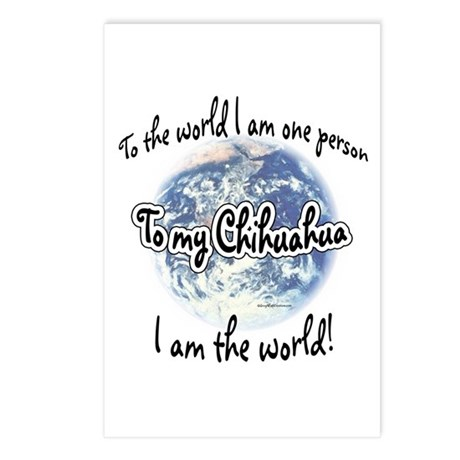 Chihuahua World2 Postcards (Package of 8)