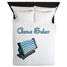 gone solar with solar panel.png Queen Duvet