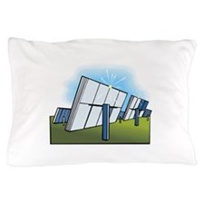 field of solar panels. Pillow Case