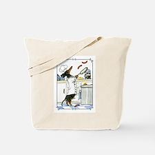 Cute Black chef Tote Bag
