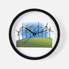 wind farm windmills.png Wall Clock