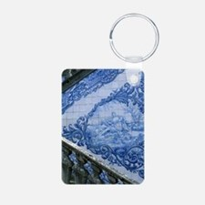 Azulejo tiles and stone st Keychains