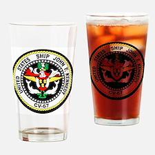 Cute Uss john f kennedy Drinking Glass