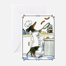 Dachshund Chef Greeting Cards (Pk of 10)