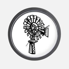 home made windmill.png Wall Clock