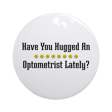 Hugged Optometrist Ornament (Round)