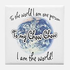 Chow World2 Tile Coaster