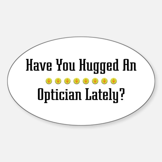 Hugged Optician Oval Decal