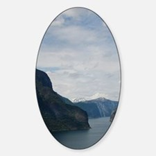 The longest & deepest fjord in the  Sticker (Oval)