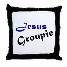Jesus Groupie Throw Pillow