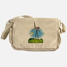 windmill in the country.png Messenger Bag