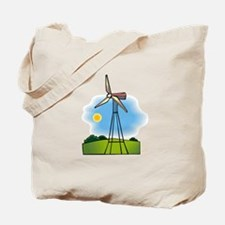 windmill in the country.png Tote Bag