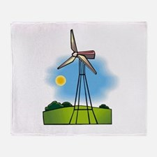 windmill in the country.png Throw Blanket