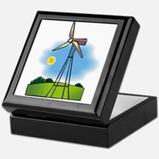 windmill in the country.png Keepsake Box