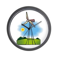 windmill in the country.png Wall Clock