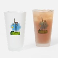 windmill in the country.png Drinking Glass