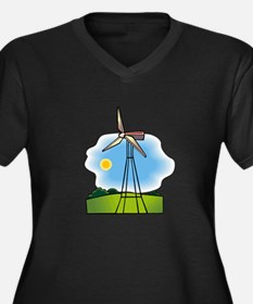 windmill in the country.png Plus Size T-Shirt