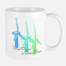 wind power is green power with 3 windmills.png Mug