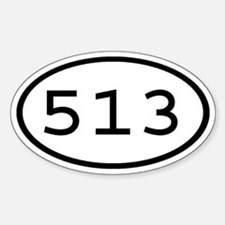 513 Oval Oval Decal