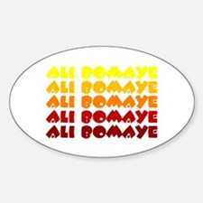 Ali Bomaye Oval Decal