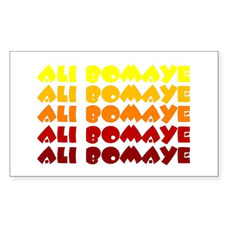 Ali Bomaye Rectangle Sticker