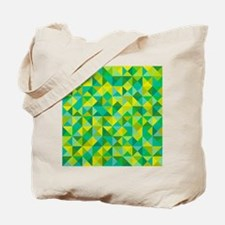 Green & Turquoise Triangles Tote Bag