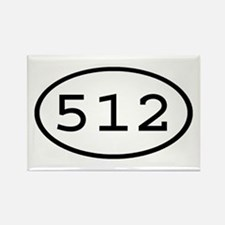512 Oval Rectangle Magnet