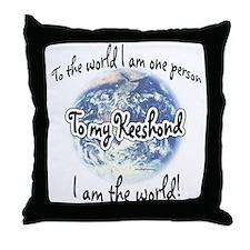 Keeshond World2 Throw Pillow