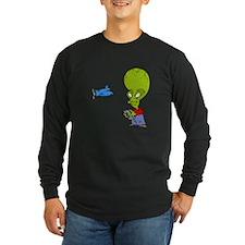 Alien flying toy plane Long Sleeve T-Shirt