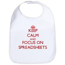Cute I love spreadsheets Bib