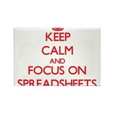 Keep Calm and focus on Spreadsheets Magnets