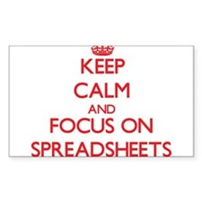 Keep Calm and focus on Spreadsheets Decal