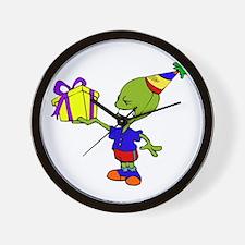 Alien Birthday Boy Wall Clock