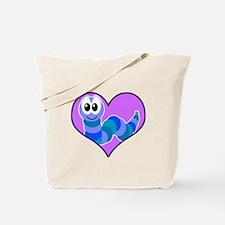 Cute Goofkins Caterpillar in Heart Tote Bag