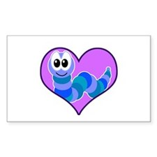 Cute Goofkins Caterpillar in Heart Decal
